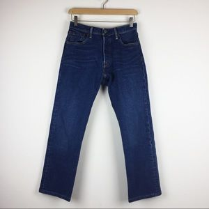 High waisted Levi's 501s dark wash cropped